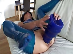 Giant blue dildo