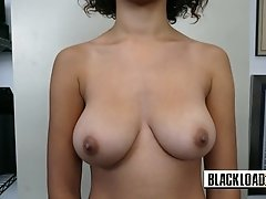 Pretty cute ebony loves to sucking and ride
