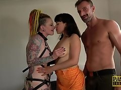 BDSM rough threesome Lucy Love And Piggy Mouth