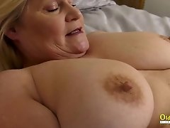 OldNannY British Large-Breasted Mature Lesbian Adventure