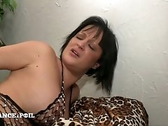 Slutty Darkhair Cries While Taking hard fuck