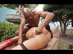 Perfect sexy shemale suck and fuck big black cock