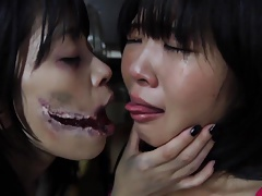 Japanese Slit Mouthed Woman lesbian play Subtitled