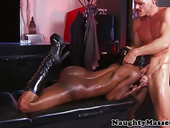 Busty Kinky masseuse Diamond Jackson ass fucked