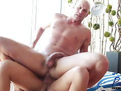 hot blonde Aubrey Kate fucks her man bareback